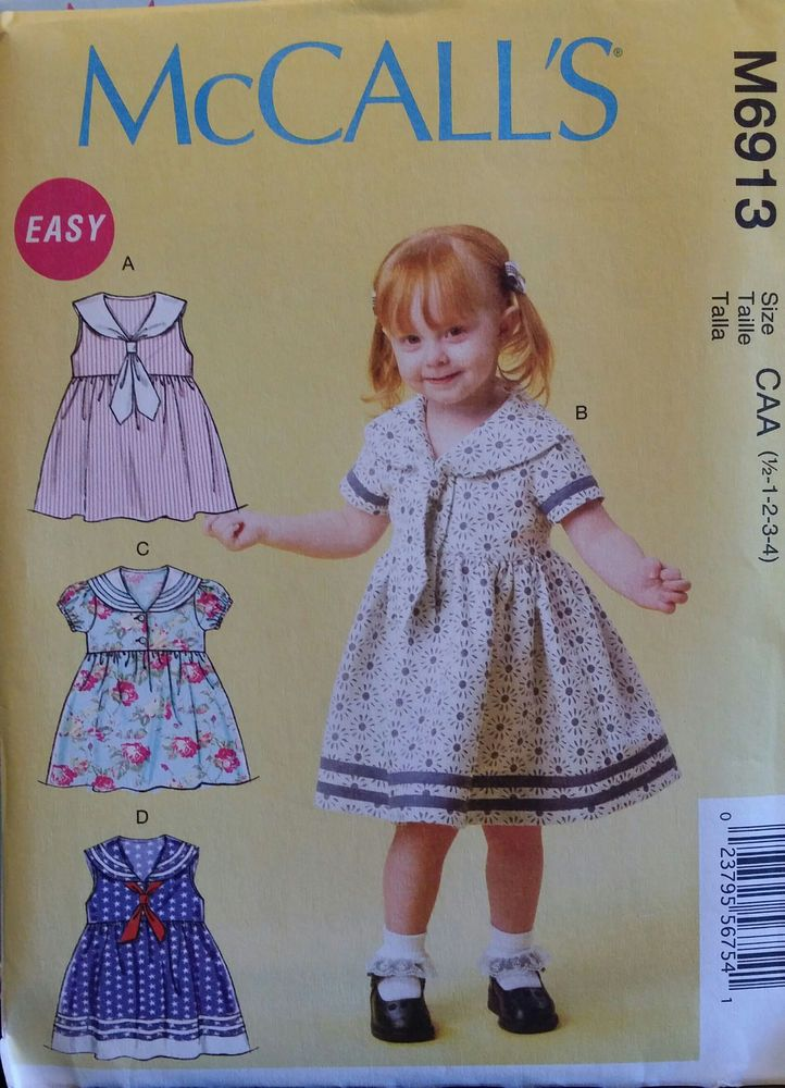 M7177 McCall/'s 7177 Sewing Pattern Infants/' Pullover Dresses /& Panties