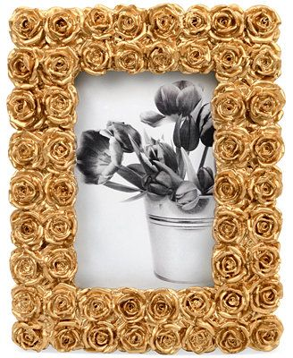 Concepts In Time Gold Rose Floral Bouquet Frame Macys Wedding