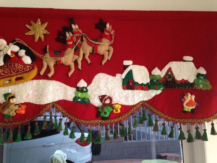 cortinas navideas con luces  Buscar con Google  cenefa