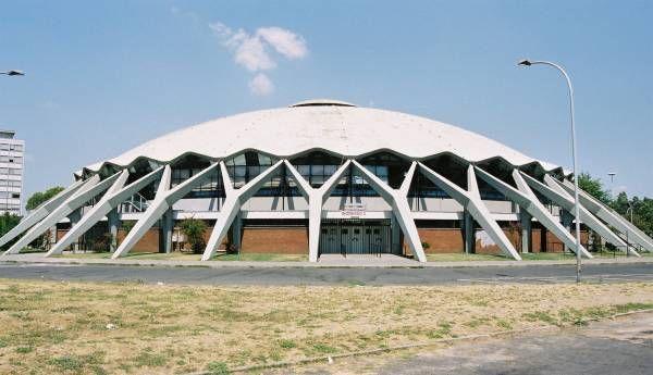 Palazzetto Dello Sport Dome Building Structure Architecture Architecture Sketch