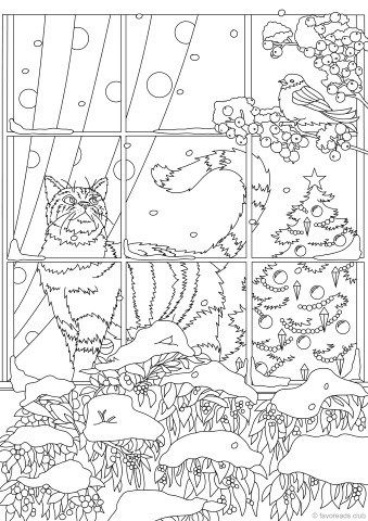 Cats And Dogs Santa And His Friends Favoreads Coloring Club Cool Coloring Pages Coloring Pages Fall Coloring Pages
