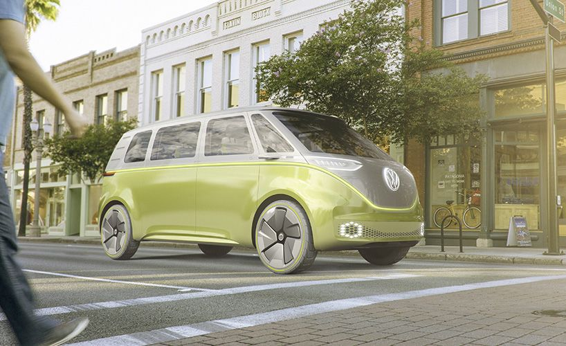 volkswagen I.D. BUZZ volkswagen ID BUZZ concept self driving electric campervan designboom