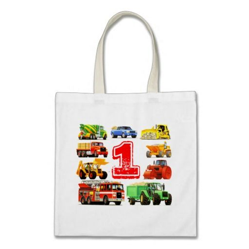Big Trucks 1st Birthday Tote Bag from TruckStore on Zazzle. #truckstore #trucks #kids #kidsparty #kidsbirthday