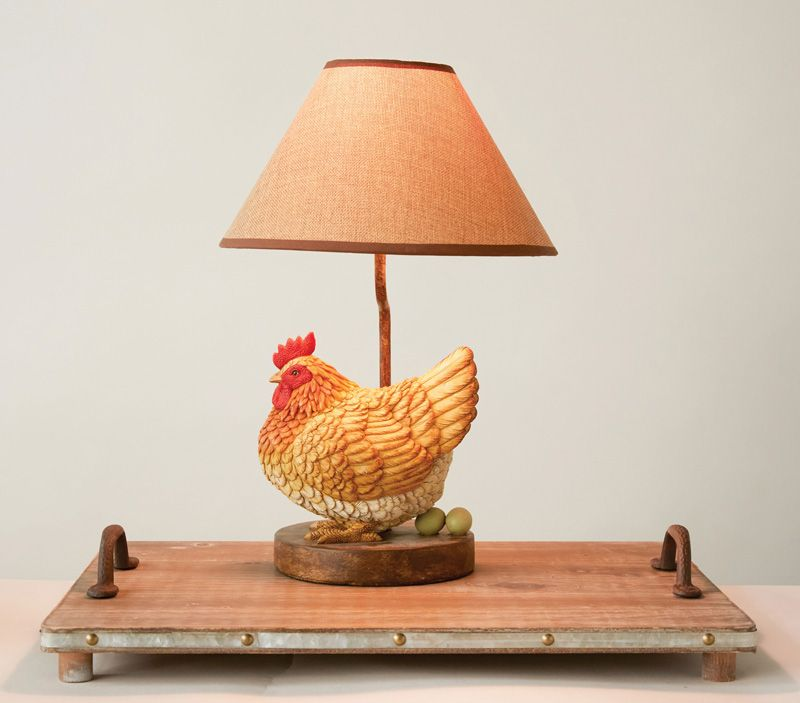 Country hen lamp chicken lamp