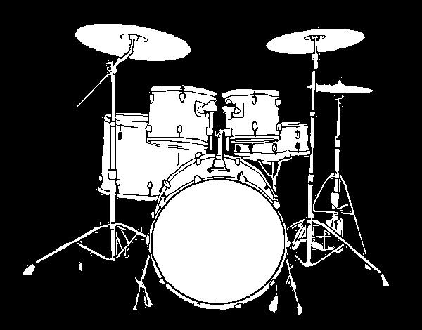 Dibujo De Bateria De Percusion Para Colorear Dibujos Net Drums Musical Art Music Themed
