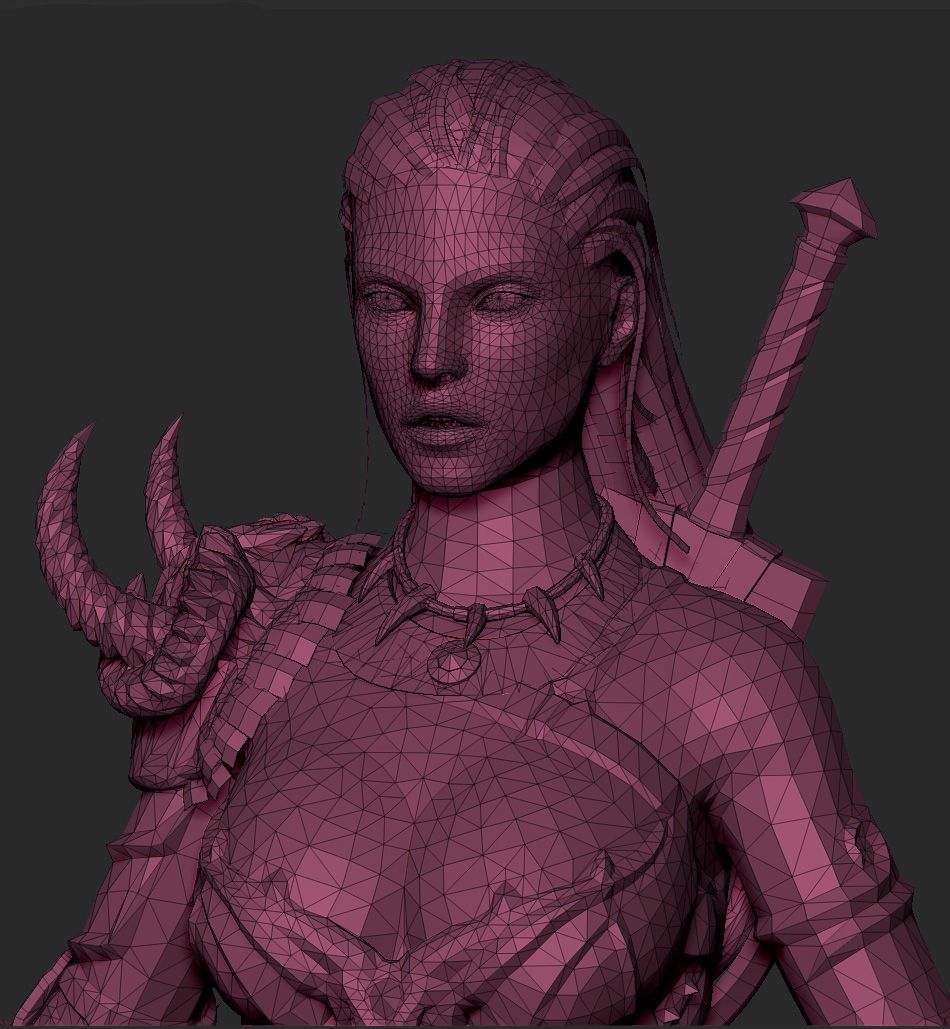 Barbarian Female for Diablo III (With images) Low poly