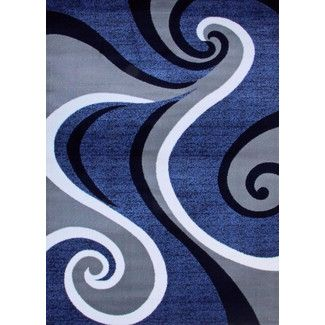 <strong>Persian-rugs</strong> Abstract Blue Area Rug