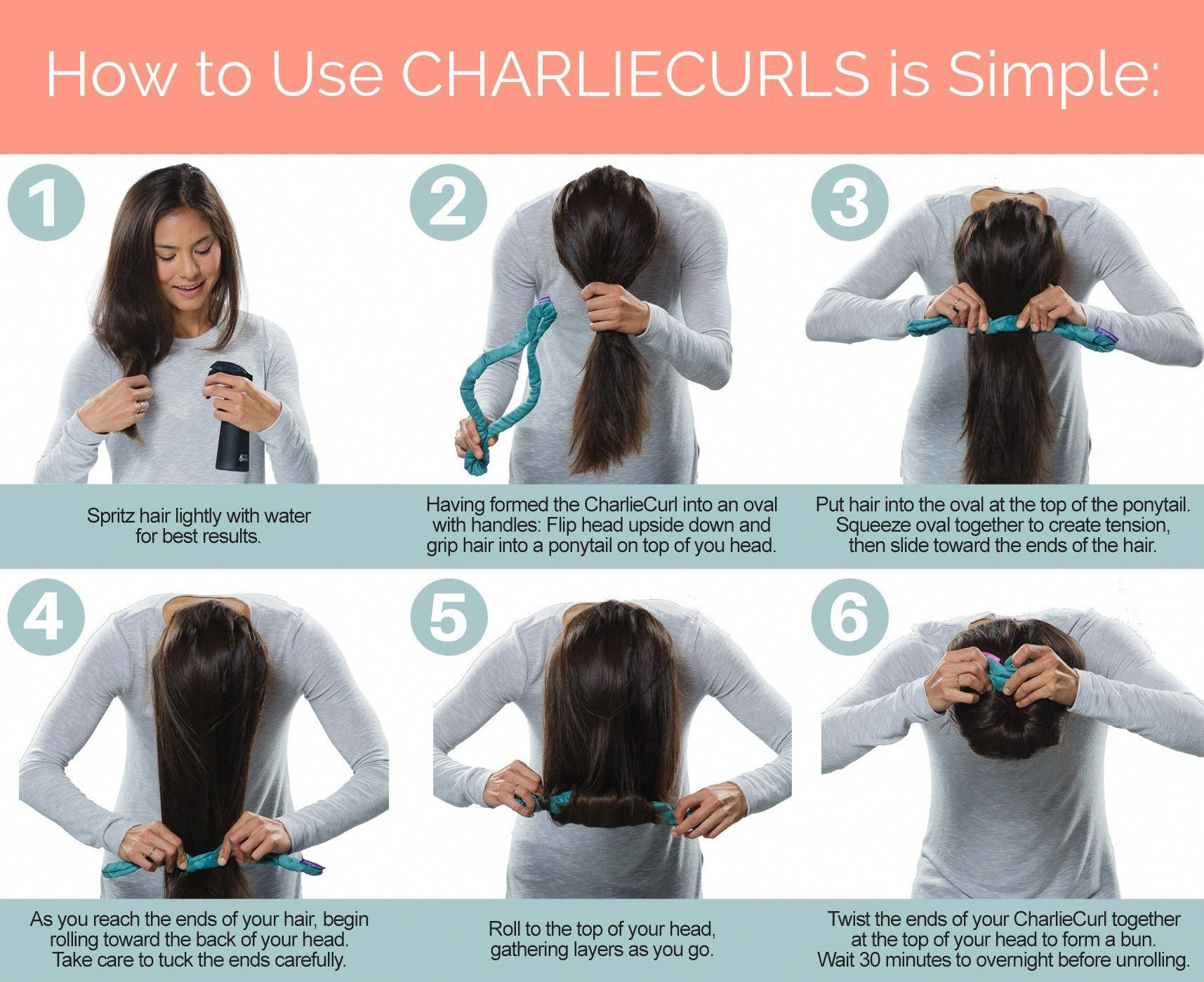 Easy No Heat Curls With Charliecurls 6 Simple Steps That S It And No Heat Means No Damage To Your Hair E Curls No Heat Loose Waves Hair No Heat Hairstyles