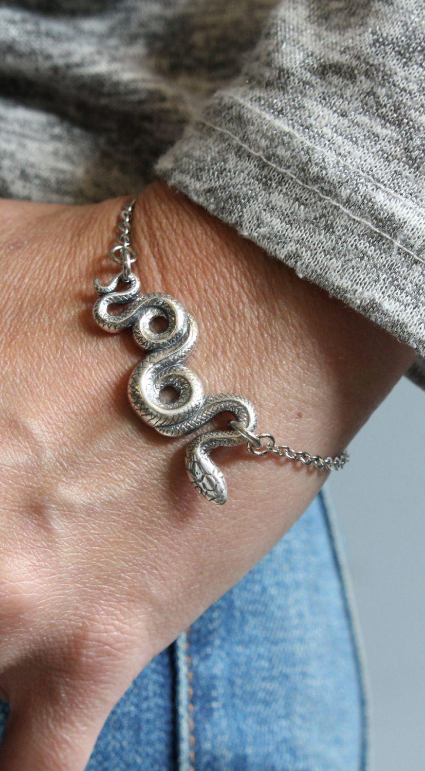 Silver Garden Snake Bracelet