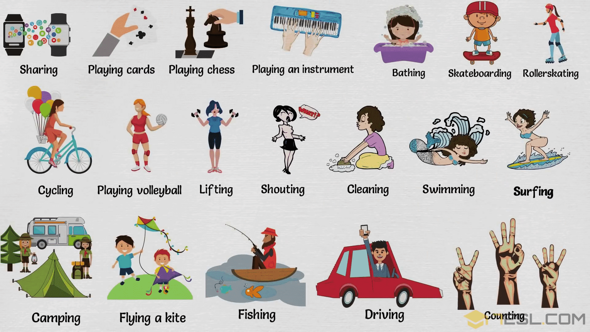 Action Words List Of Common Action Words With Pictures 7 E S L Action Words Spanish Learning Activities Action Verbs [ 1080 x 1920 Pixel ]