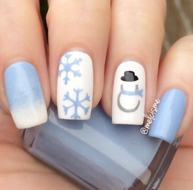 #Winter #Nail #Art #Designs that #Look #Cute and #Cozy. Easy #Holiday #Nail  #Designs For #Winter - #Nail #Designs #Tips. Read more - 50+ Latest Winter Inspired Nail Art Ideas !! Nails Art ---- Nails