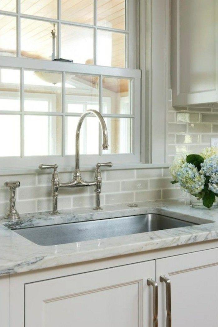 keramikfliesen design küche gestalten wanddesign blumen | Küche ...