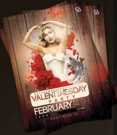 Valentines Day Flyer Templates Free PSD FLYERS Pinterest - advertising flyers templates free
