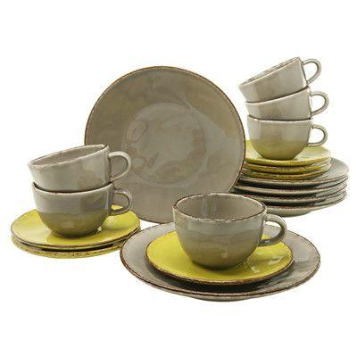 Steingut Porzellan 18 tlg kaffeeservice organic elements elemente porzellan und