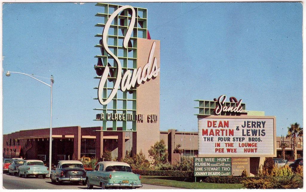 Sands Hotel Las Vegas Nevada 1953 With Images Las Vegas