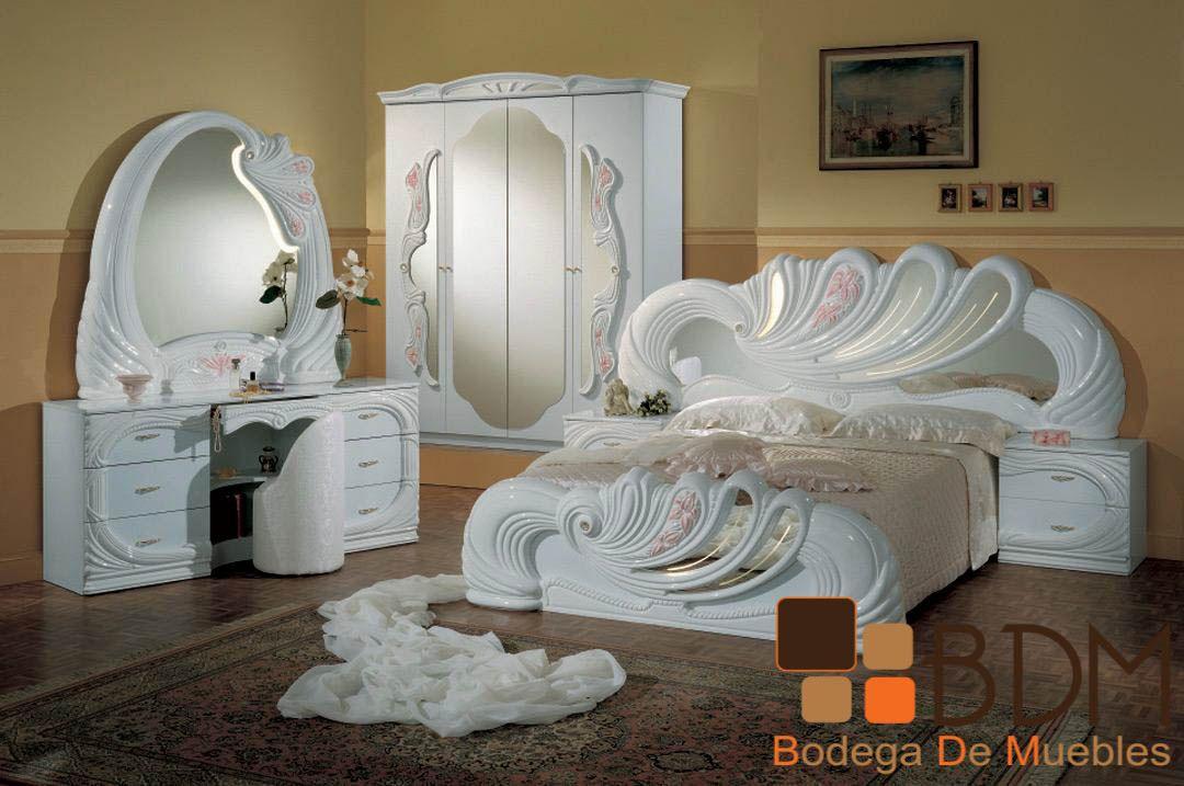 Rec mara con estilo rom ntico furniture bodega de - Camas estilo romantico ...