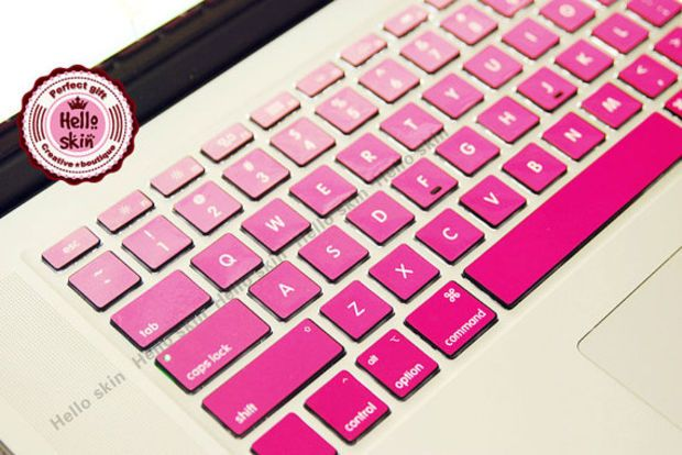 2020 Keyboard Cover for MacBook Air 13 Pro 15 Accessories English Letters Gradient Keyboard Protector Stickers-Keyboard Sricker