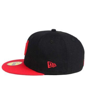 New Era 59 Fifty Casquette de baseball Washington Nationals MLB Basic Black Fitted Hat