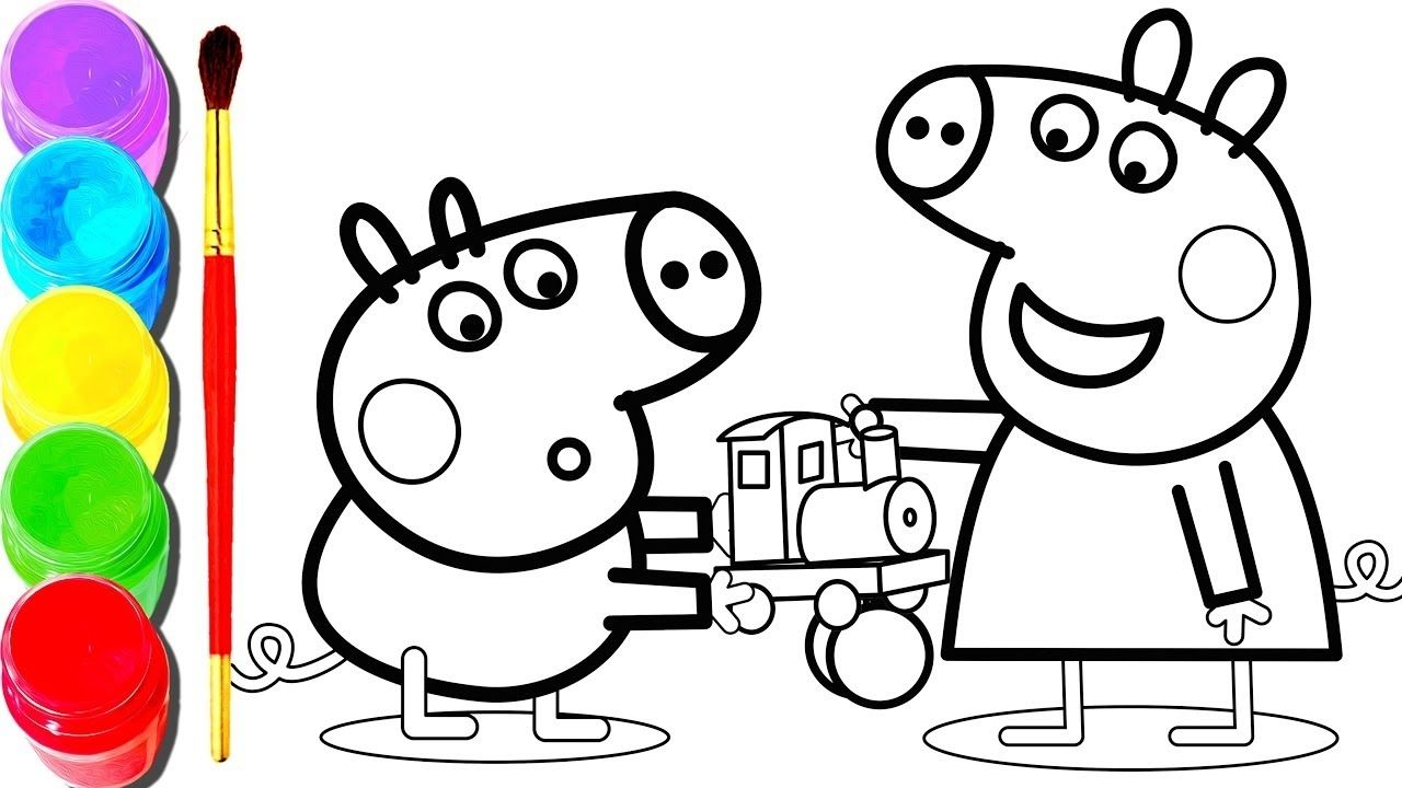 Peppa Pig Voving Coloring Book Coloring Books Coloring Book Download Peppa Pig Colouring