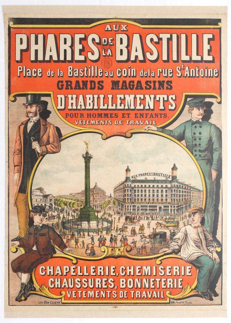 aux phares de la bastille grands magasins d 39 habillement paris 1890 39 s franse letters. Black Bedroom Furniture Sets. Home Design Ideas