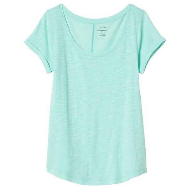 8fb010ce Banana Republic Women Factory Malibu Scoop Neck Tee ($15) ❤ liked on  Polyvore featuring tops, t-shirts, scoopneck top, sleeve t shirt, scoop-neck  tees, ...