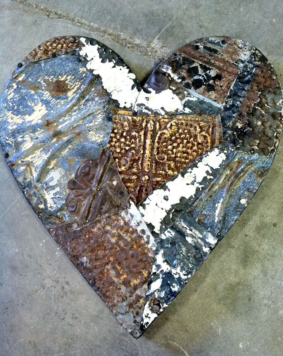 Heart Made From Ceiling Tin Valentines Day Pinterest Ceiling