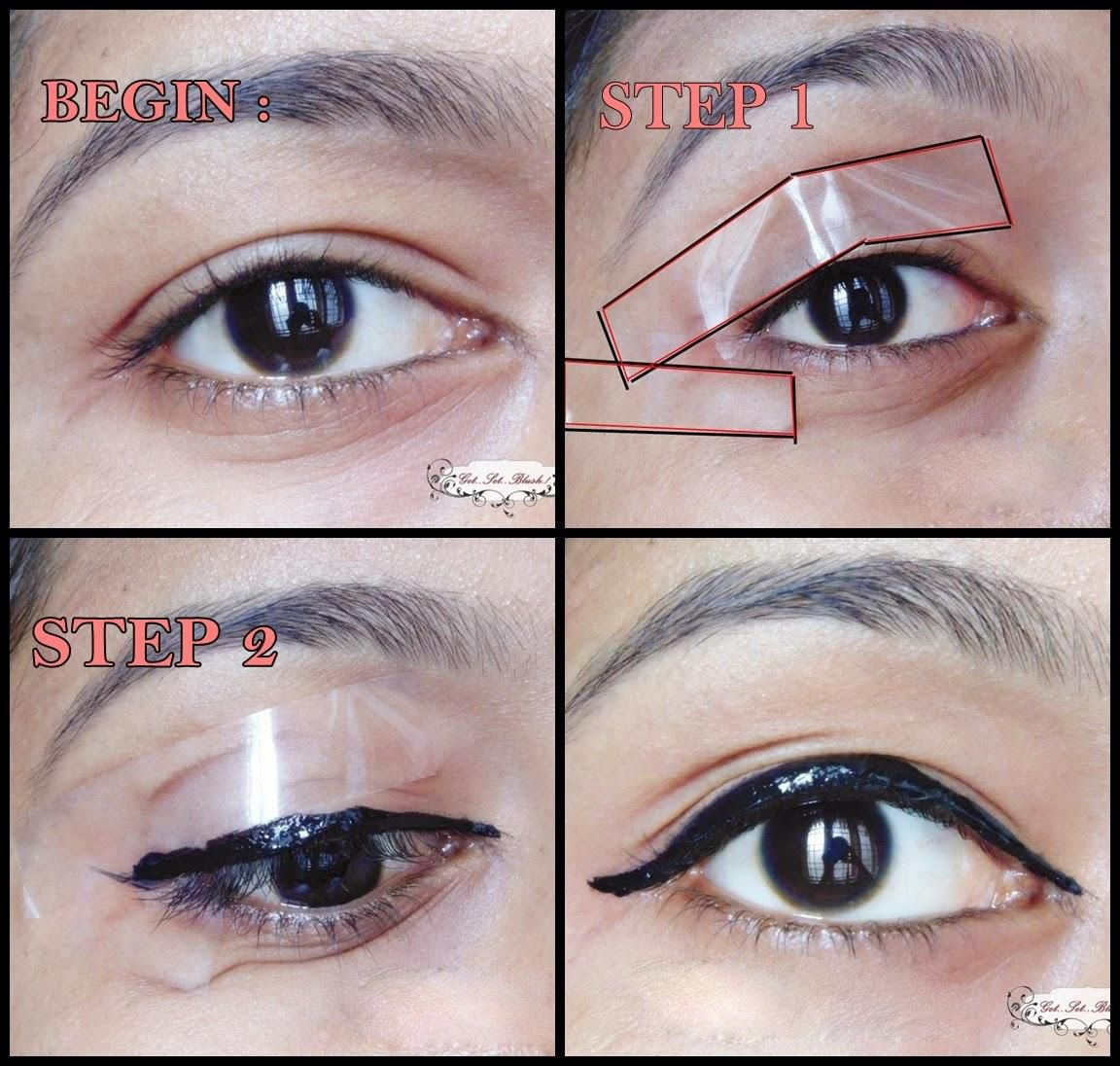 Tutorial how to get a winged eye liner in sec l eqlskn makeup tutorial how to get a winged eye liner in seconds quick technique for beginners how to use liquid eye liner easy winged eye liner tutorial baditri Image collections
