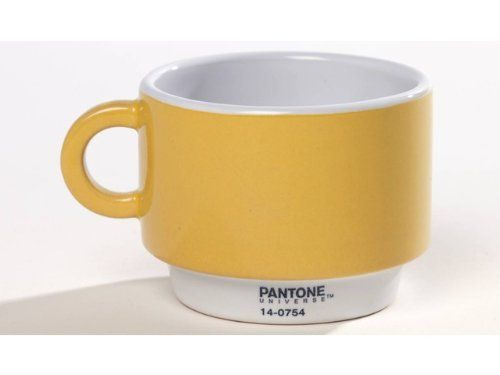PANTONE, tazza caffè gialla - Ø 7.3 cm - #coffeetime #pantone
