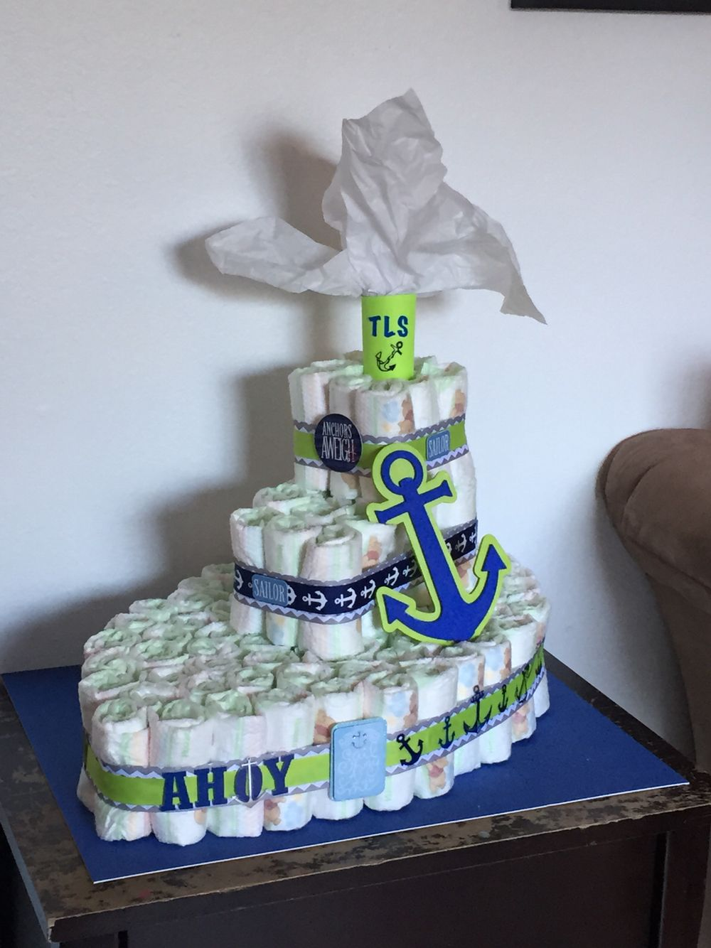 Diaper Cake Boat Ahoy It S A Boy Baby Shower Crawfish
