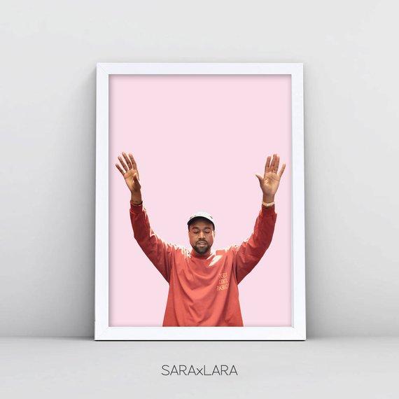 05719703b42f7 Kanye West Print Kanye West Poster Kanye Poster Kanye West Pablo ...