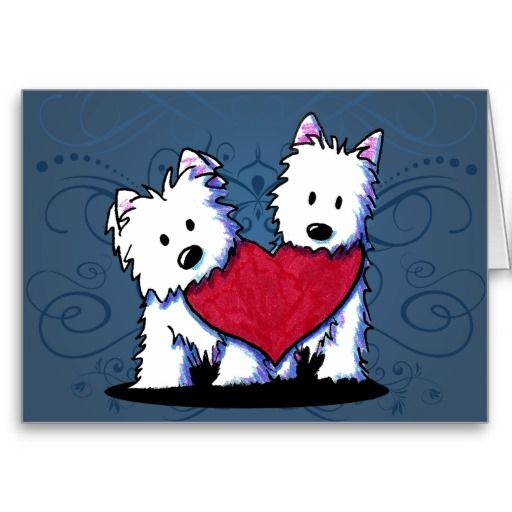 Heartfelt Westie Duo Card Westies Dog Pictures And Dog