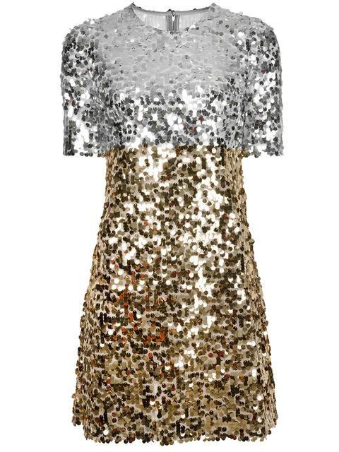 481c14e612ceaf1 Dolce & Gabbana платье с пайетками | Платья | Золотое платье, Платье ...
