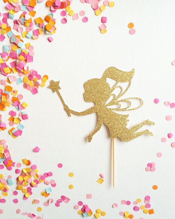 Fairy Cake Topper - Fairy Wand Cake Topper - Fairy ...