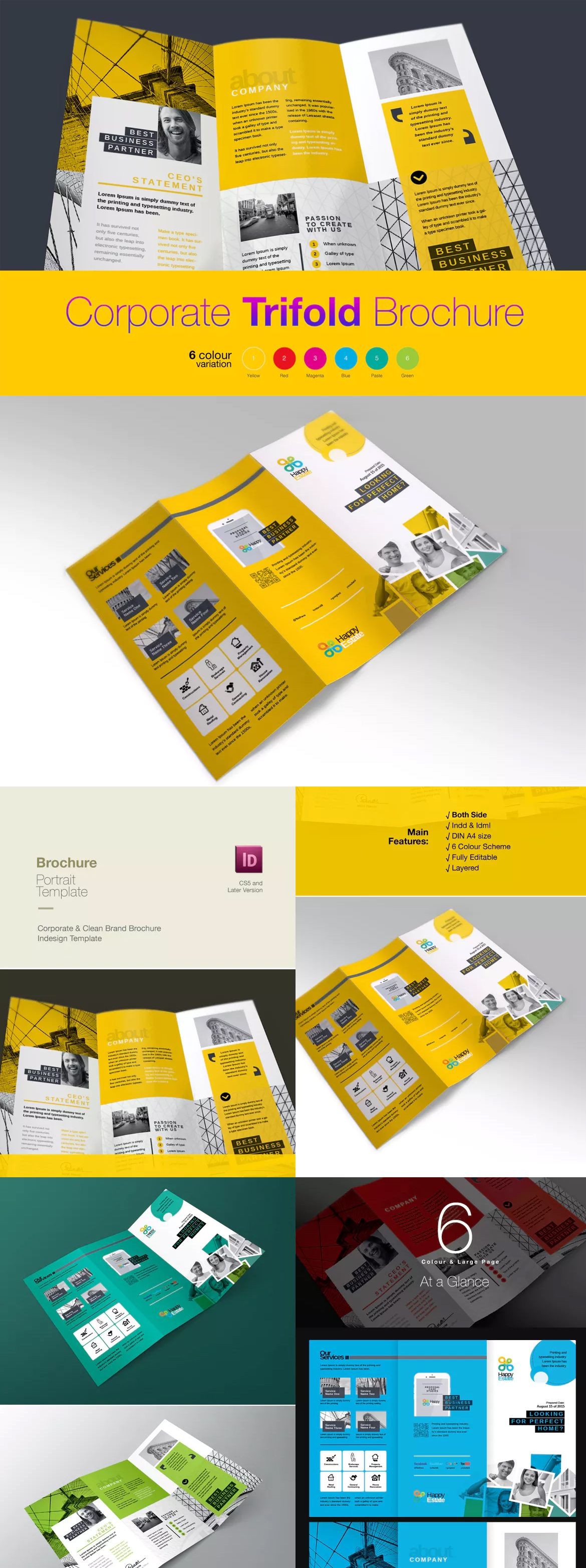 Trifold Brochure Template InDesign INDD A4 - Unlimited Downloads ...