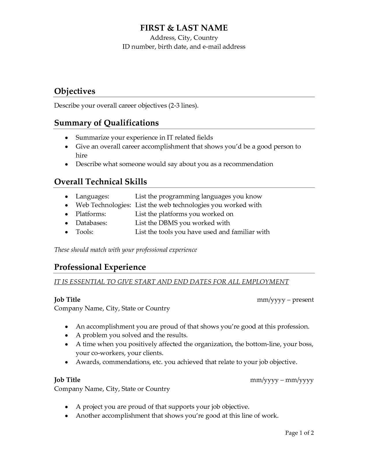 resume ending lines cover letter closing sentence certificate ...