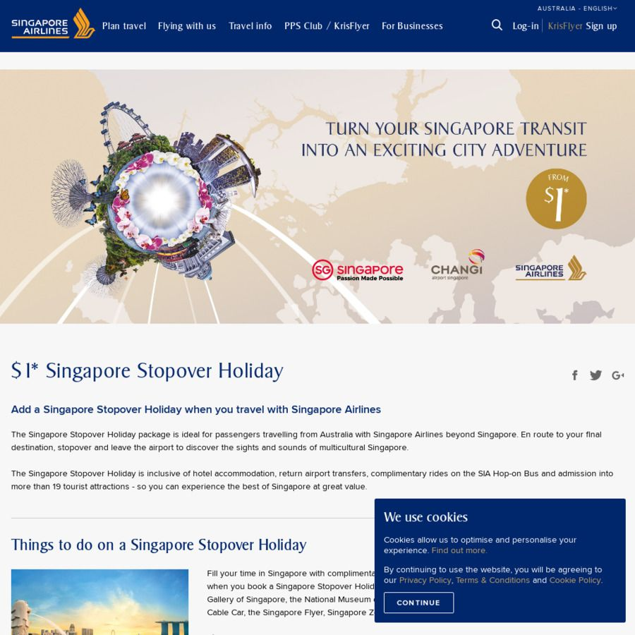 $1 Singapore Stopover (1 Night Hotel + Admission to 19 Attractions ...