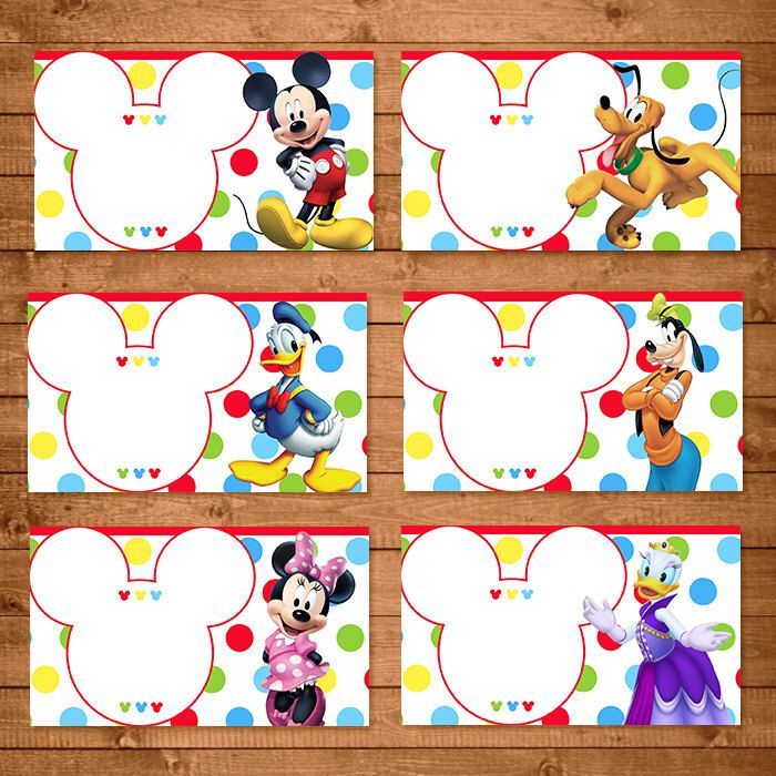 Mickey Mouse Food Tents Dots Chevron