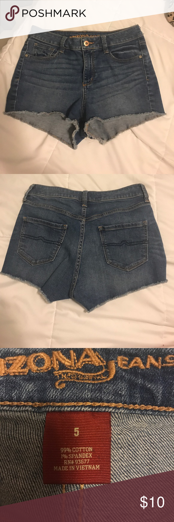 Jean Shorts Super short jean shorts. Very comfy. Perfect condition. No tears or defects in general. Arizona Jean Company Shorts Jean Shorts