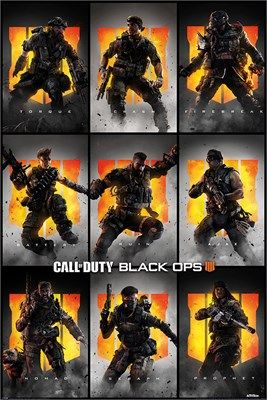 Call Of Duty: Black Ops 4 Characters Poster
