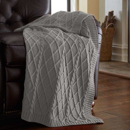 Amrapur Oversized Cable Diamond Knit Throw Blanket Brown Products Magnificent Luxury Throw Blanket By Amrapur
