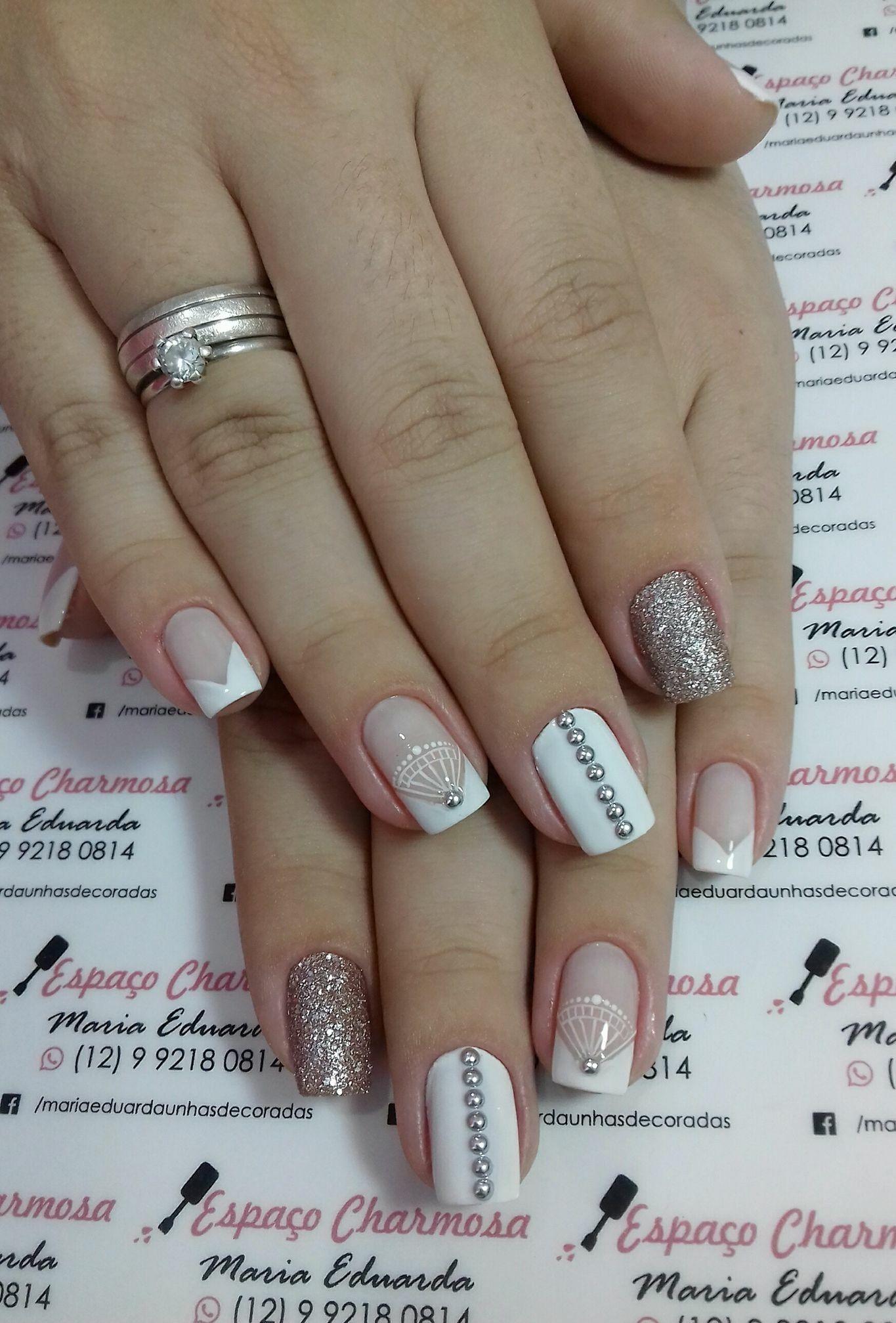 Dise o u as u as en 2019 nail art french nails y manicure - Disenos de unas pintadas ...