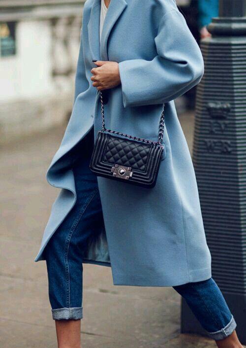 Cerulean Blue ~ wool coat | Fashion, Street style, How to wear