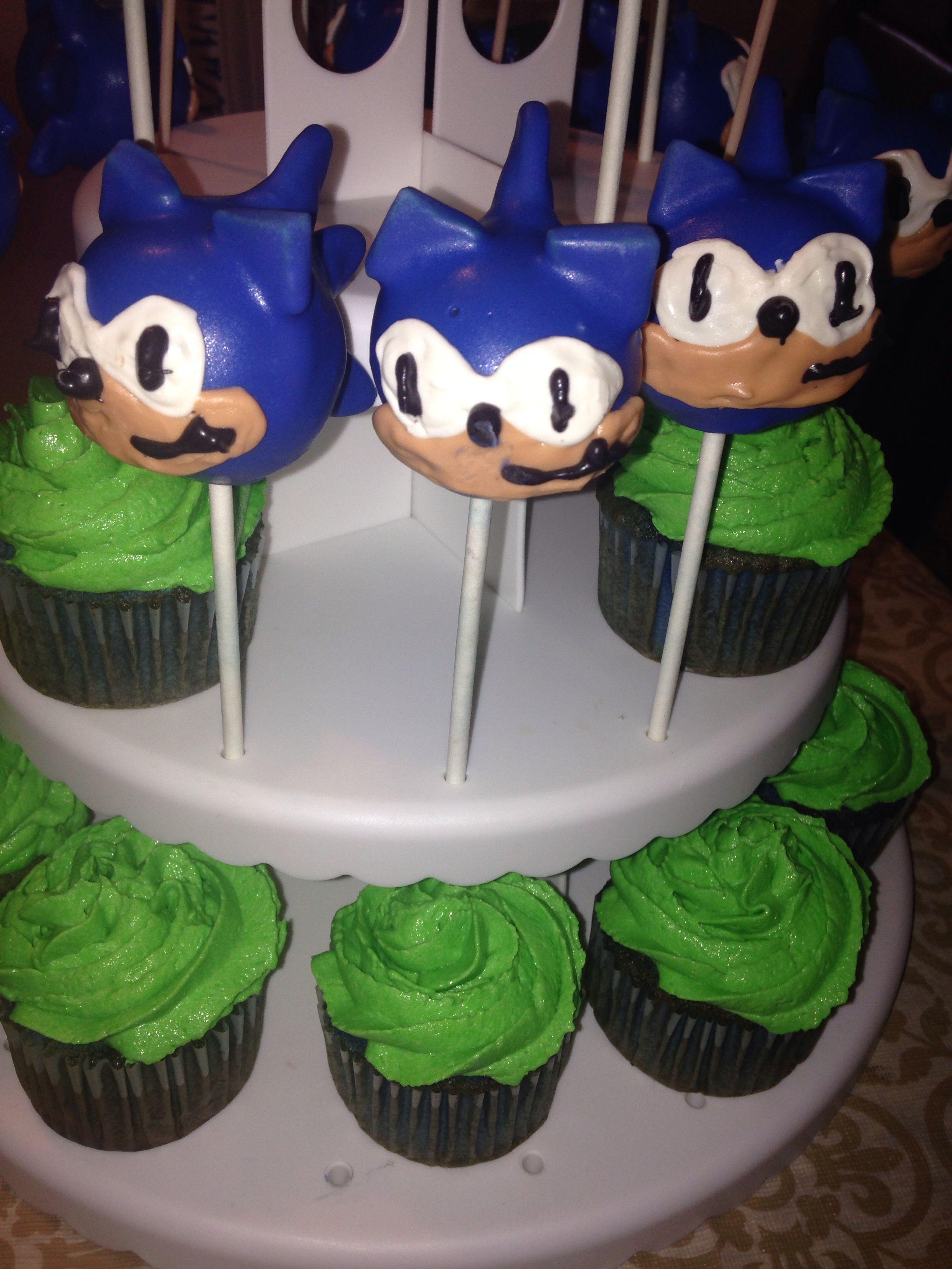 Sonic The Hedgehog Cake Pops Cakepops Sonic Kidsthemedcakepops Sonic The Hedgehog Cake Hedgehog Cake Sonic Birthday