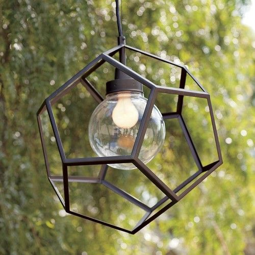 Polyhedron Pendant Contemporary Outdoor Lighting By West Elm