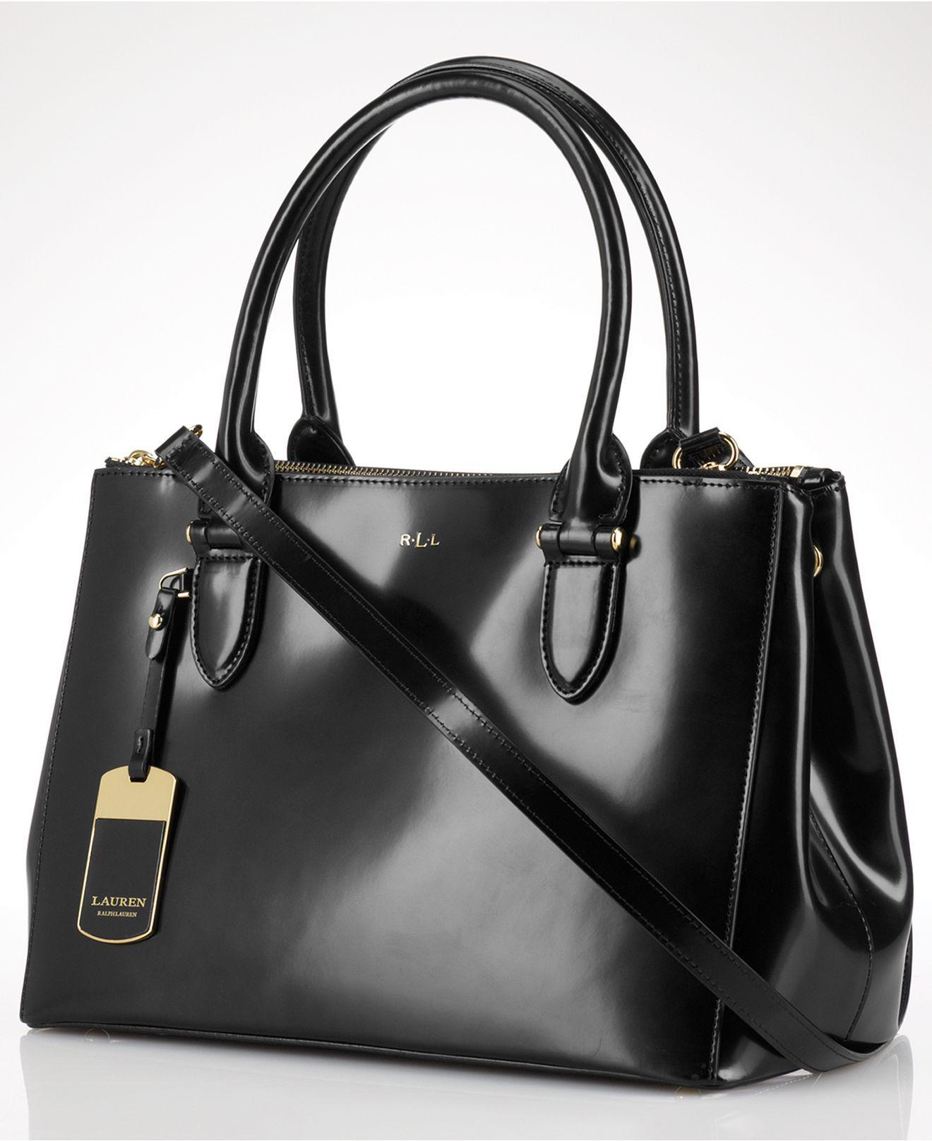 Lauren Ralph Lauren Handbag Taylor Double Zip Shopper Lauren Ralph Lauren Handbags Accessories Macy S Hering