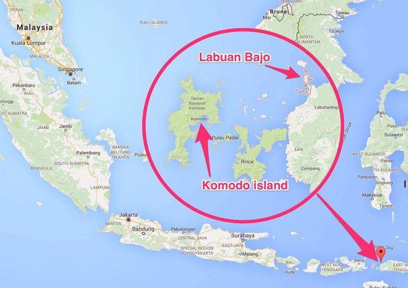 Komodo Dragon Island Map
