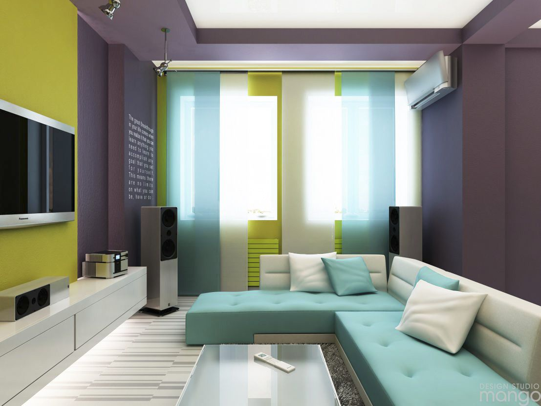 Superior Colorful Small Living Room Design