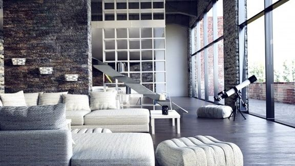 Loft Apartments with Brick Walls   The second loft created by the ...