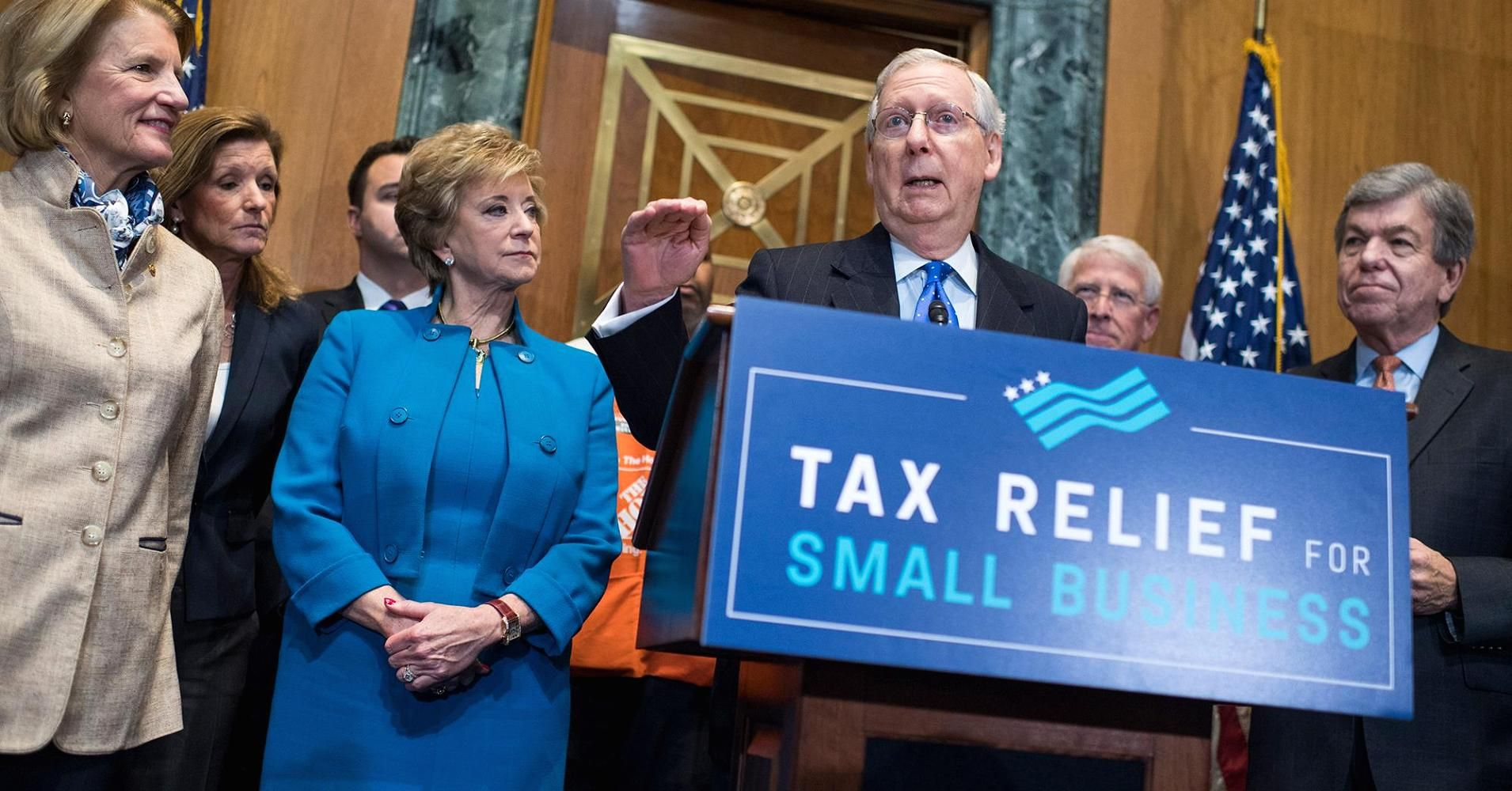 Senate tax monthly bill would fall 1 trillion short of