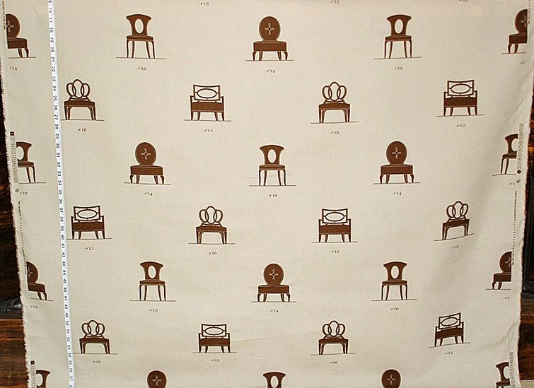 Barbara Barry chair fabric from Brick House Fabric: Novelty Fabric